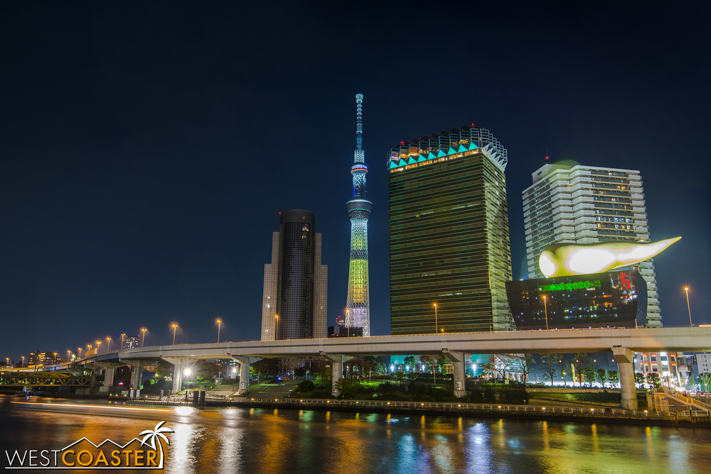 Tokyo Skytree (center) is the tallest structure in all of Tokyo.