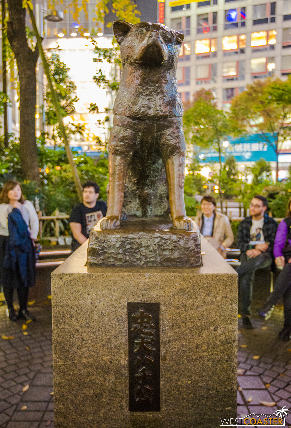 Right adjacent to Shibuya Crossing is the famous statue of Hachiko, the legendarily loyal dog famous for waiting for years at the train station for his owner to return, even though his owner had passed away during the train trip.