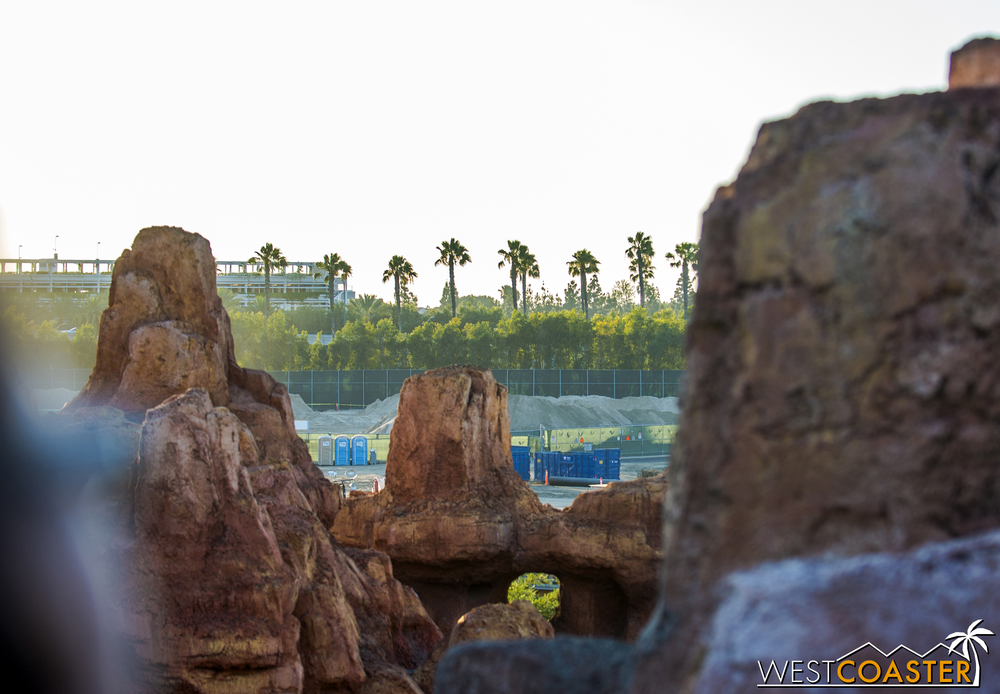 Another glimpse of the site from Big Thunder Mountain Railroad.