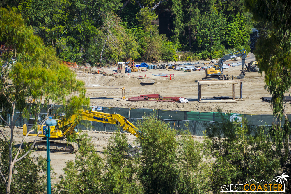 Returning back to the Mickey and Friends Parking Structure, we glimpse a few more areas more southwest along the site through the trees.