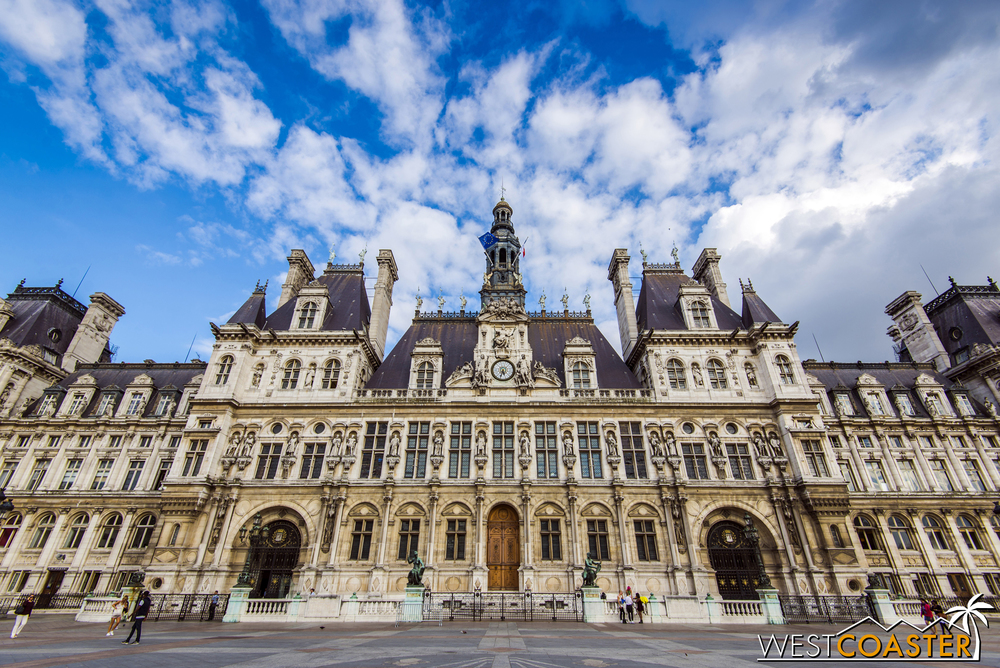 "Paris' City Hall, or ""Hotel de Ville."""
