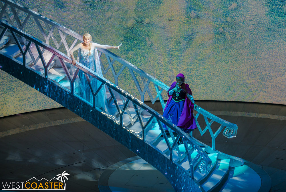 However, before Anna can summon Olaf to undo Elsa's damage, Elsa strikes her sister with an Aurora Beam, rendering her incapacitated!
