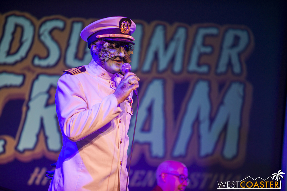 Then they were joined by The Captain, playing the role of emcee that The Ringmaster so entertainingly performed last year at Scare L.A.