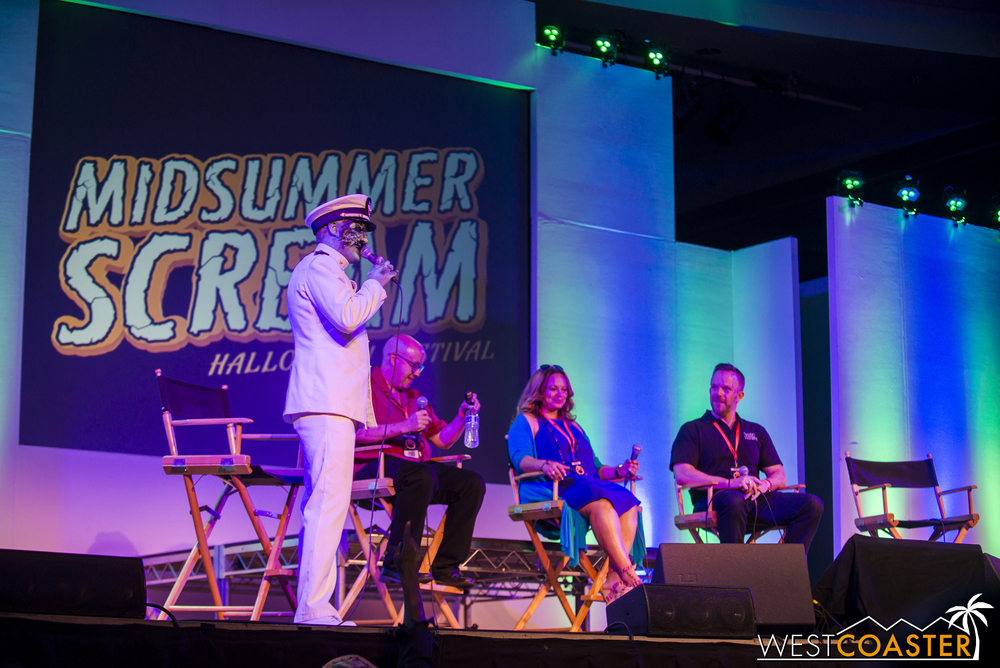 Members of Dark Harbor's design and marketing team were announced on stage, including Talent Director David Wally, Production Designer and Art Director J.J. Wickham, and Queen Mary Director of Events Steve Sheldon.