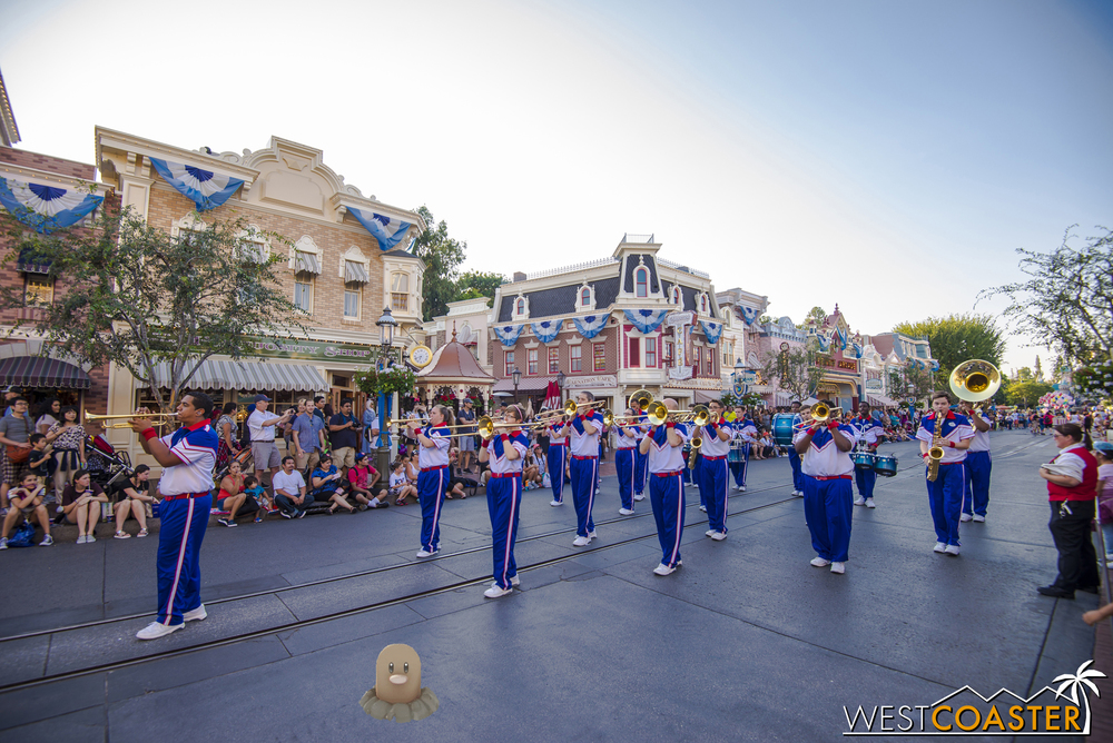 Of course, the Disneyland All-American College Band is back for the summer.