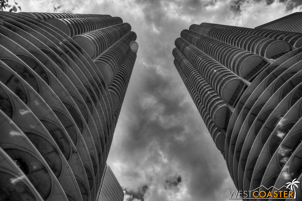 Bertrand Goldberg's Marina City towers is still used as a residential complex today.