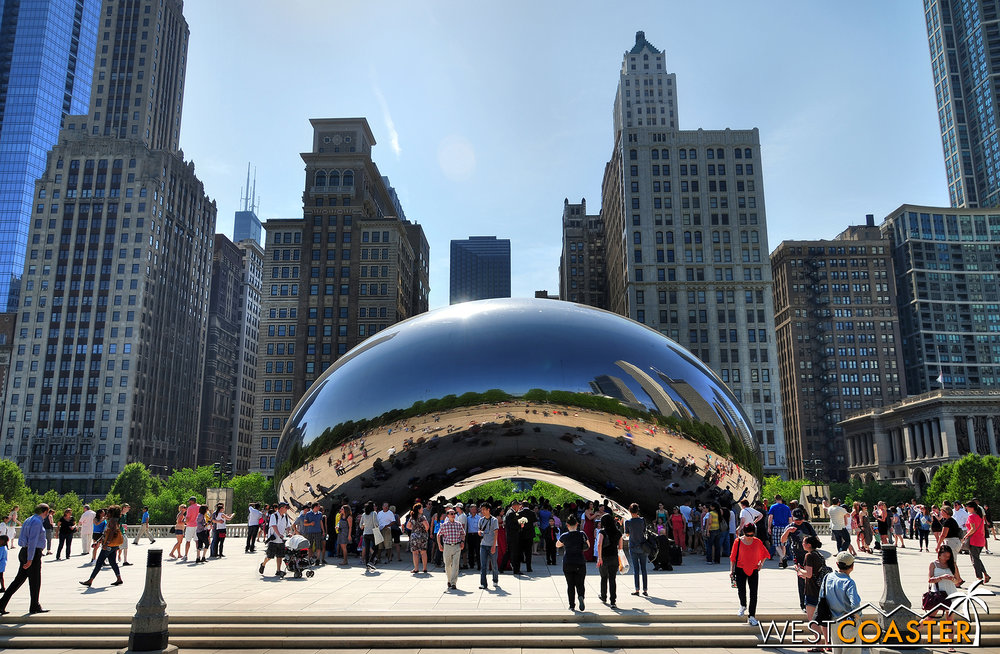 Anish Kapoor's Cloud Gate sculpture has become an icon for the city.