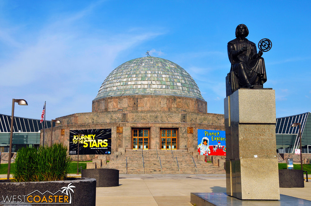 The Adler Planetarium is great for astronomy buffs and sometimes even offers star gazing programs.