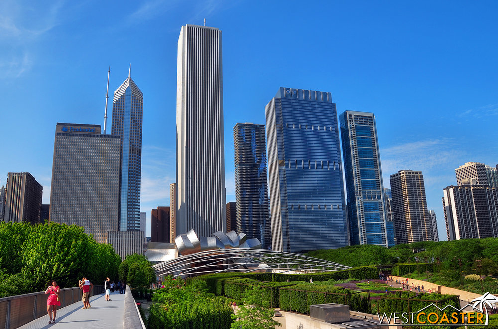 Millennium Park is technically a part of Grant Park, but more popular.