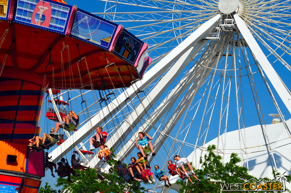 Navy Pier offers shopping and simple carnival style entertainment for guests and is more geared to families.