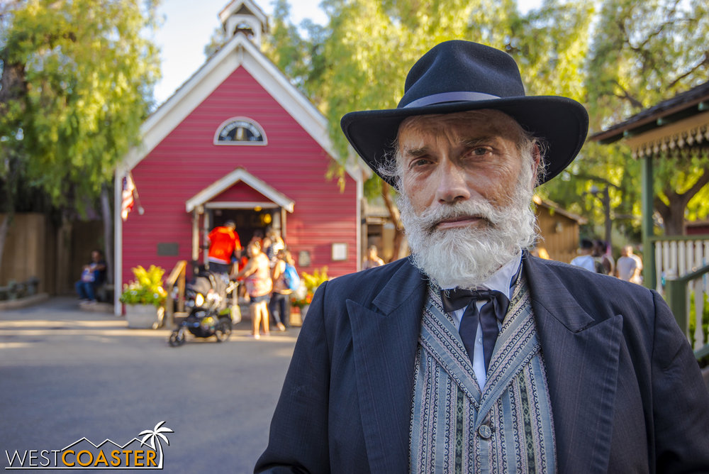 Judge Roy Bean poses for a photo at the end of the day, after the Ghost Town Alive! story has concluded.