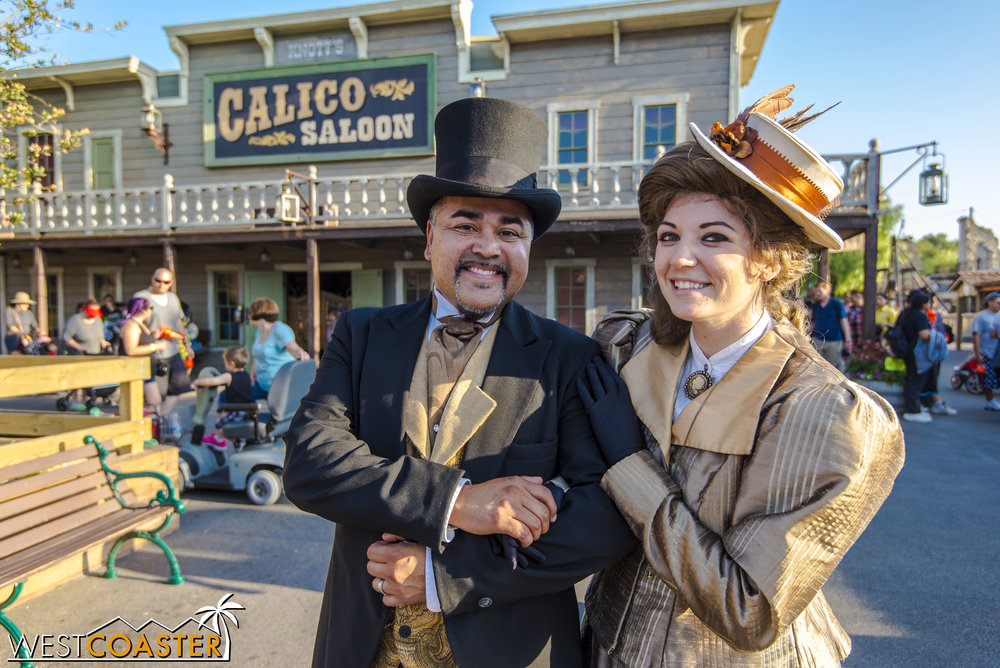 But they graciously stop for some photos before Ghost Town Alive! concludes for the day.