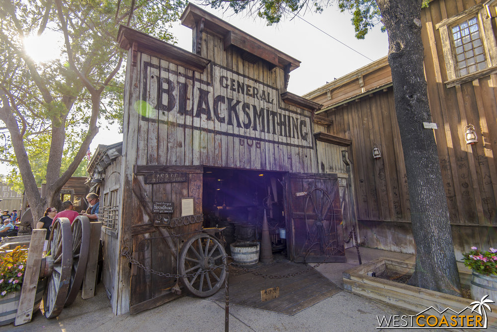 Moving up toward the Blacksmith's shop.