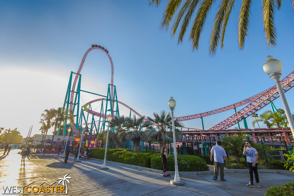 Xcelerator in the setting sun.