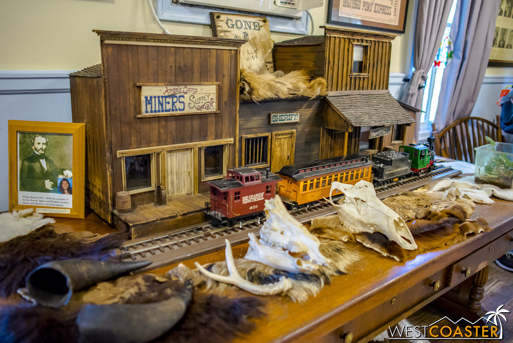 Fans of odd things can go to the Pony Express Outpost, next to the Wilderness Dance Hall, to check out a collection of educational things.