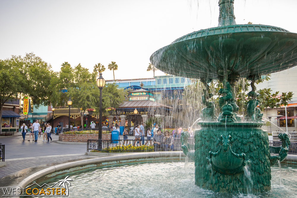 Charleston Fountain is a reminder of what The Boardwalk was like before its re-theme, so many years ago.