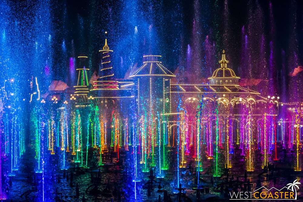 It's just an upbeat closing song with the fountains dancing, but it's very pretty.