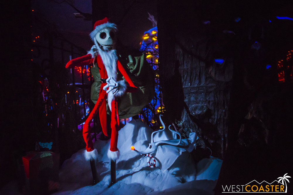 Sandy Claws admires his handiwork.