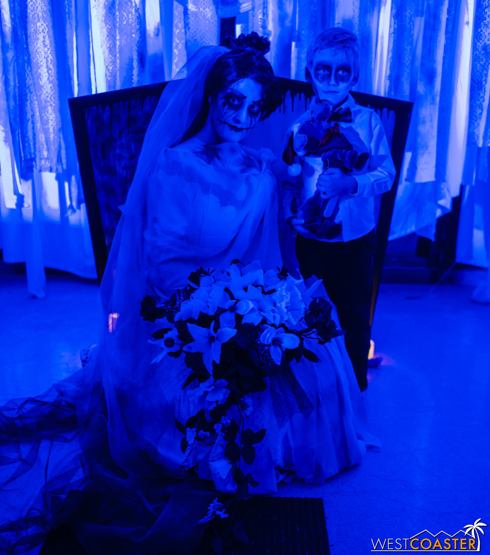 Nothing like a creepy bride to end the evening!