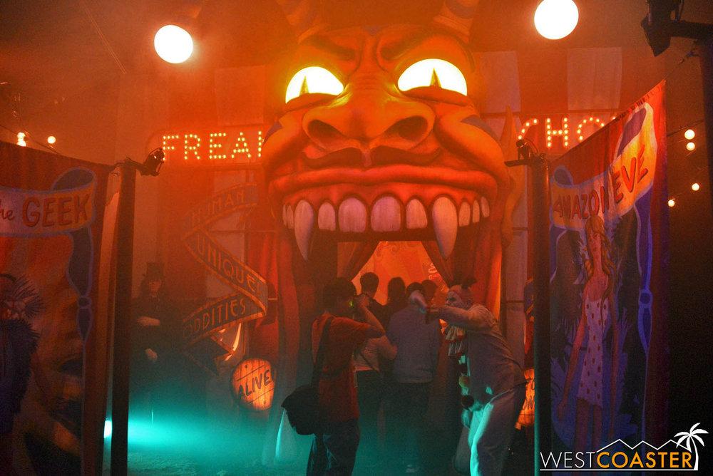 Entering the circus.