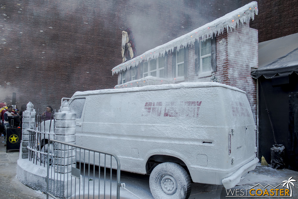 Krampus features a chilly setting recreating the house in which the movie primarily takes place.
