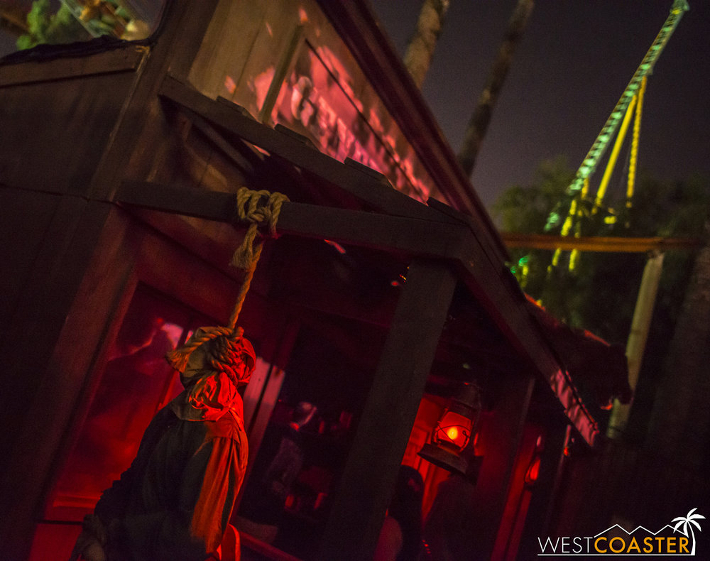 The maze features some great bloody western theming.