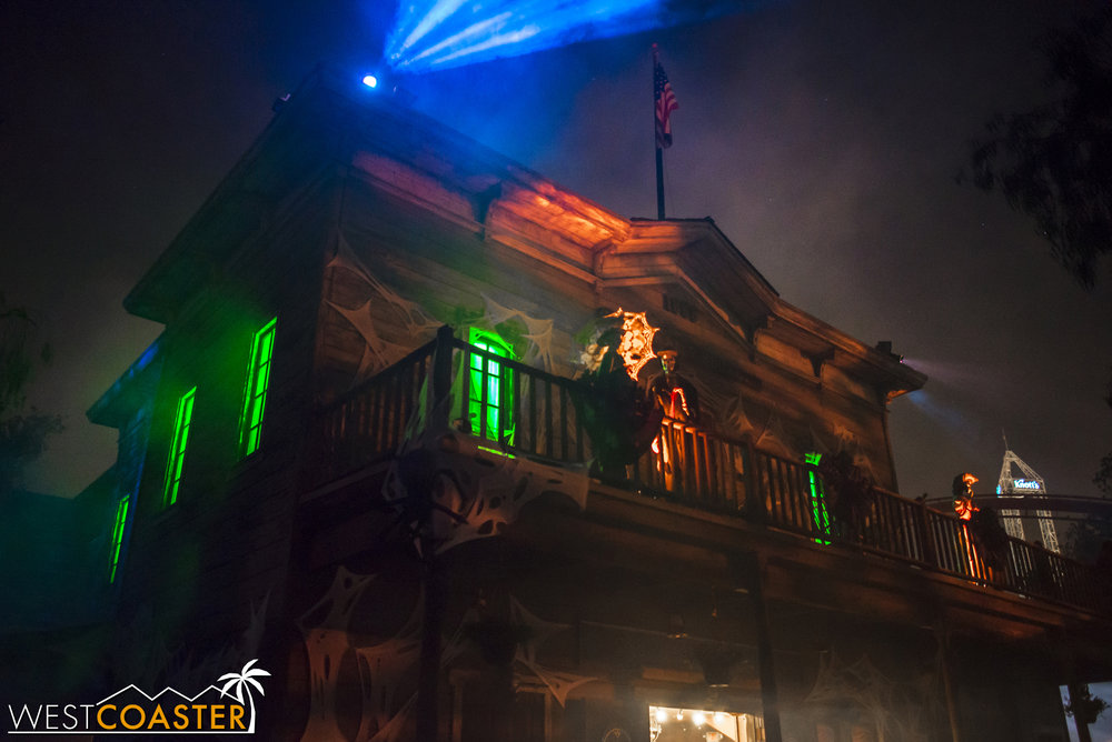 Ghost Town is the one place where Halloween theming is most overtly displayed.