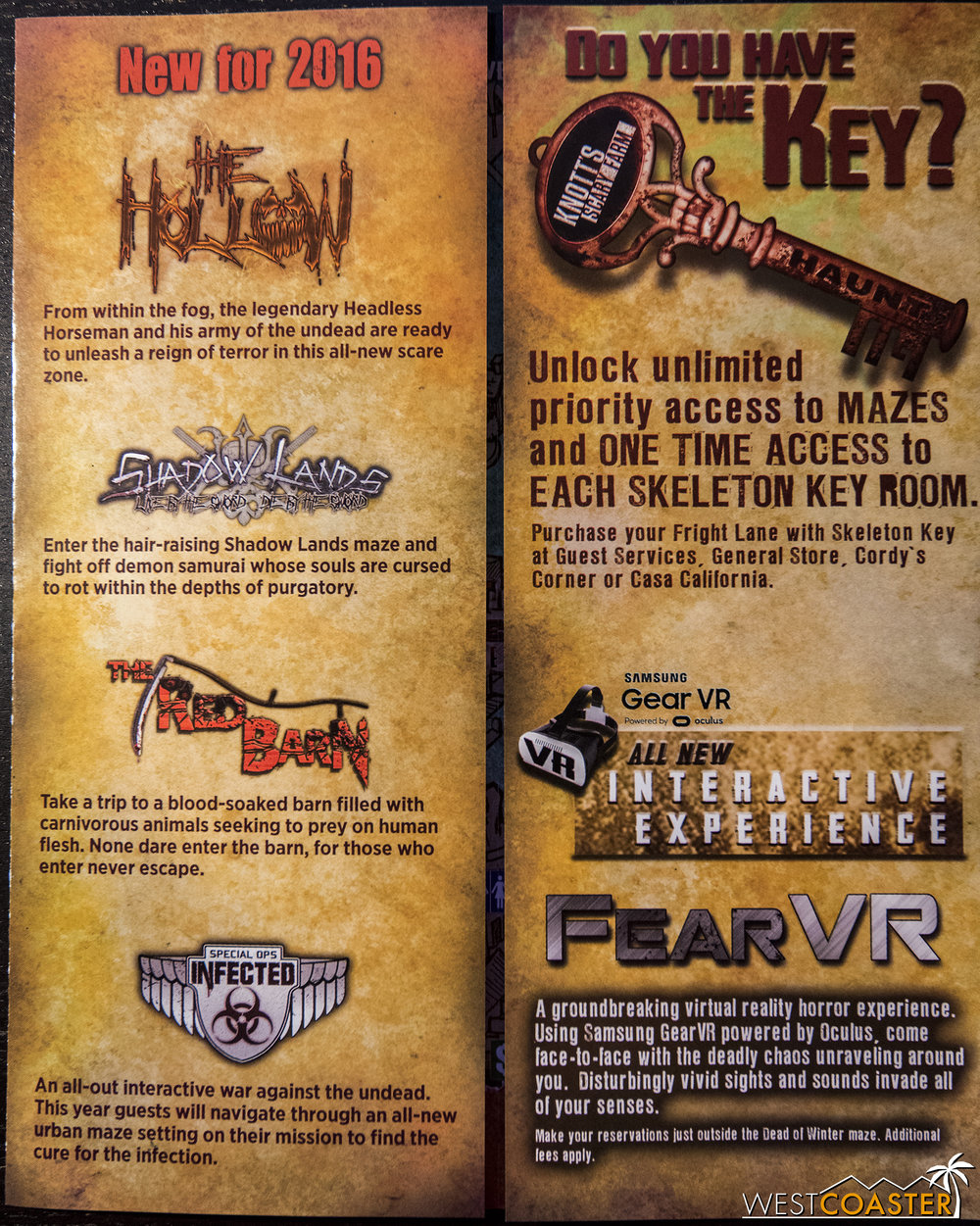 FearVR on the opening weekend Knott's Scary Farm map.
