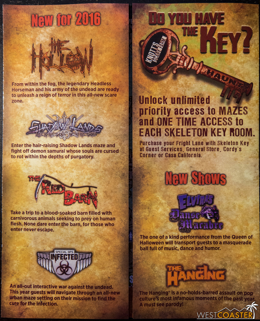 The weekend two Knott's Scary Farm map, with FearVR removed.