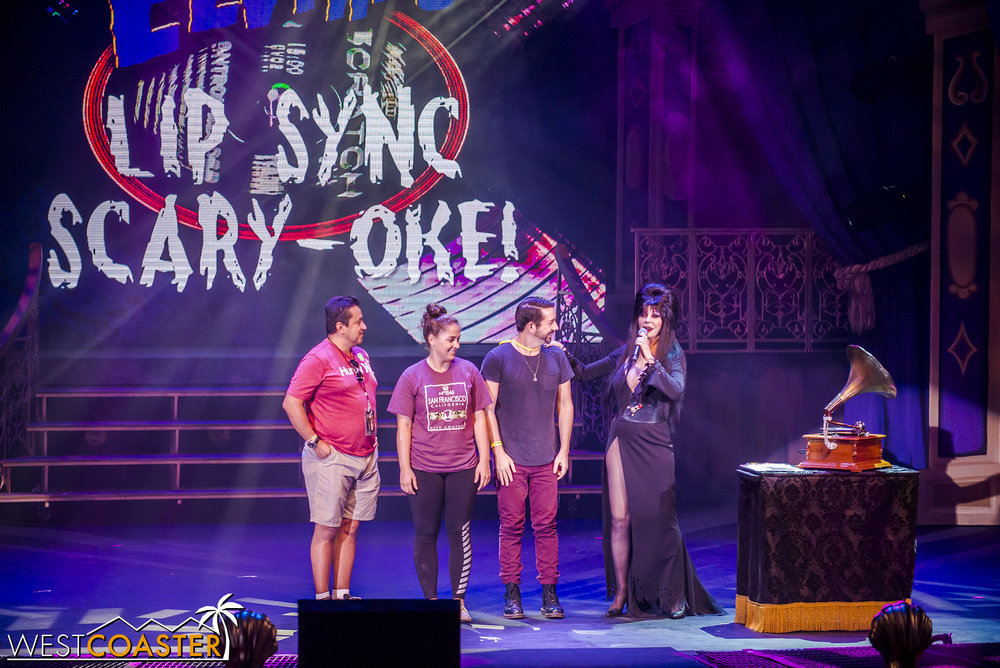 It's Elvira's Scary-oke!