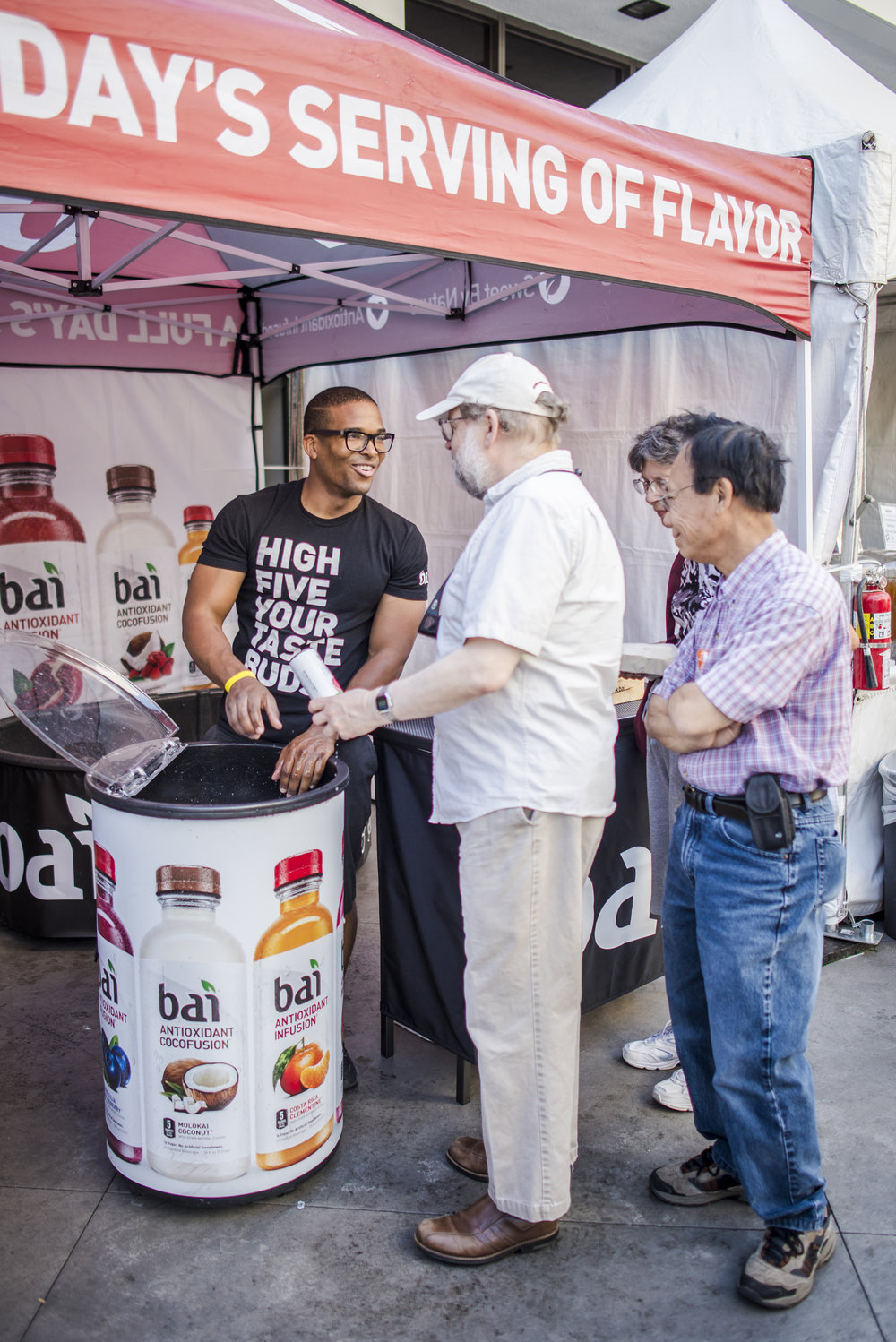 Bai was also present promoting their flavored fizzy water product.