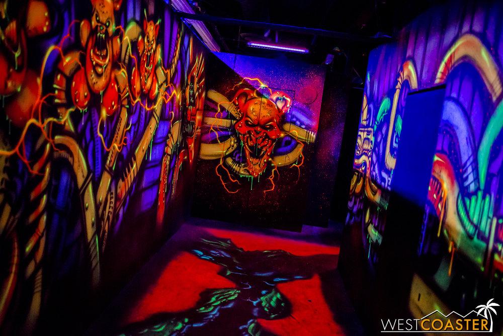 The hallways are a trippy acid fever dream.