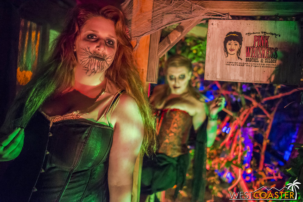 These gals were one of last year's big, entertaining hits, their playful innuendo bringing a slightly inappropriate but still fun element to the haunt.