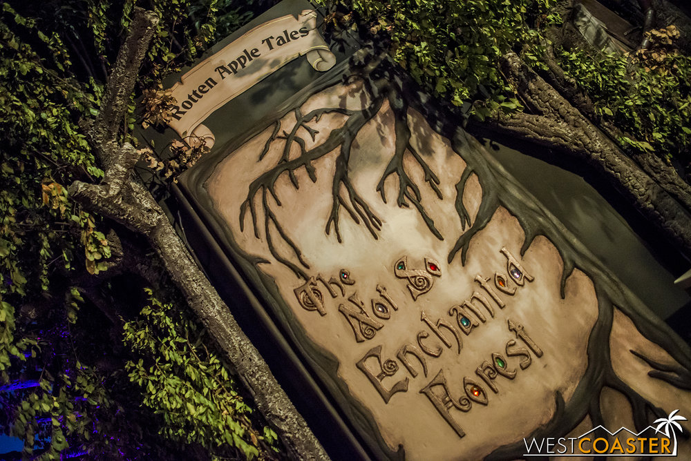 The entrance to Rotten Apple's 2016 haunted attraction conceals a host of stories.