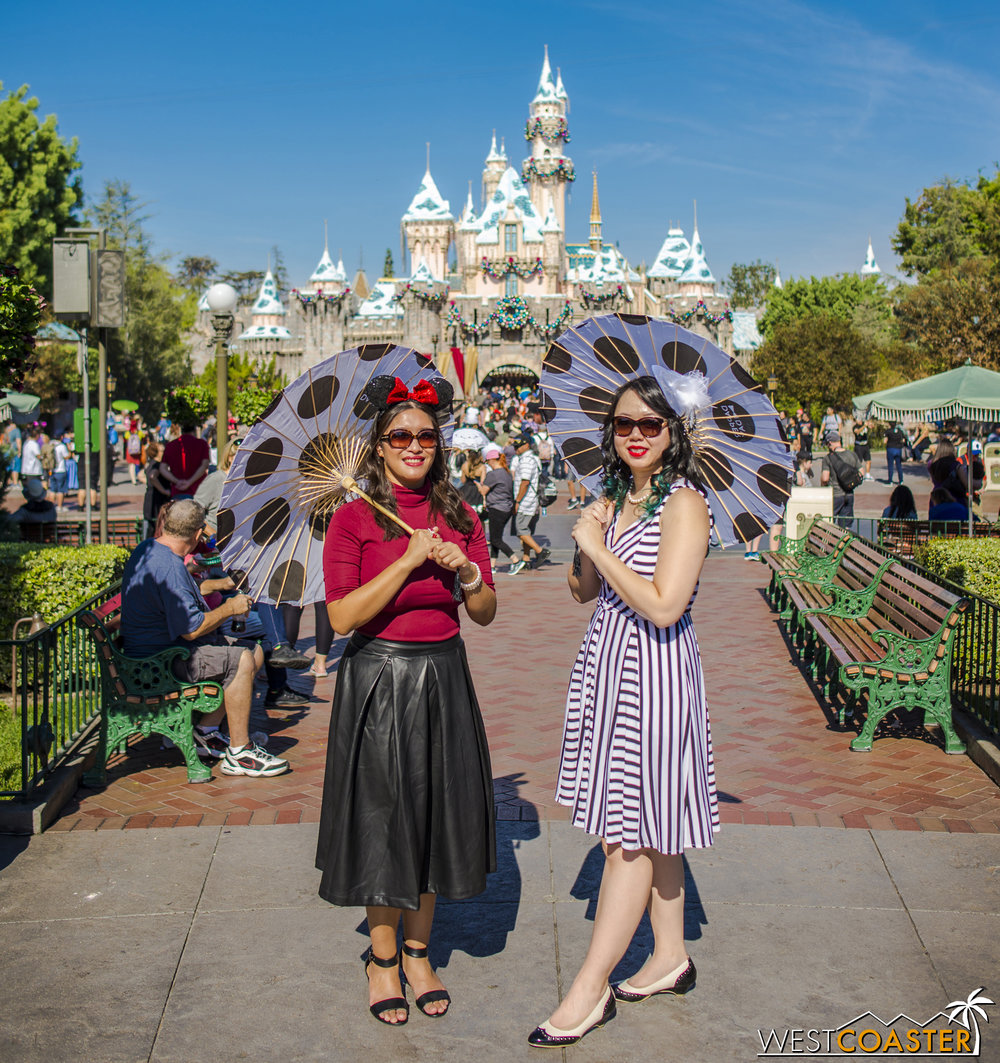 Parasols are another common sight at Dapper Day.