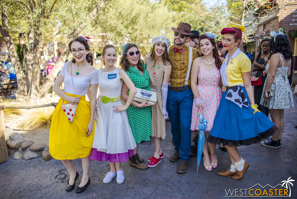 Guests like this Toy Story DisneyBound group are present to see and be seen.