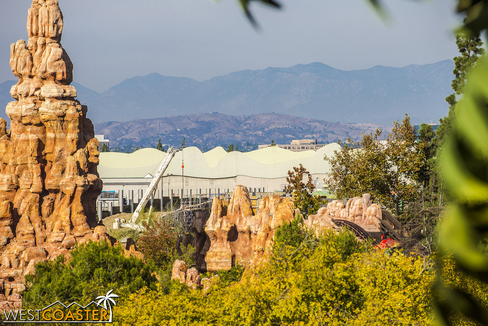 And a look at that the piles of that huge retaining wall north of what used to be Big Thunder Ranch.