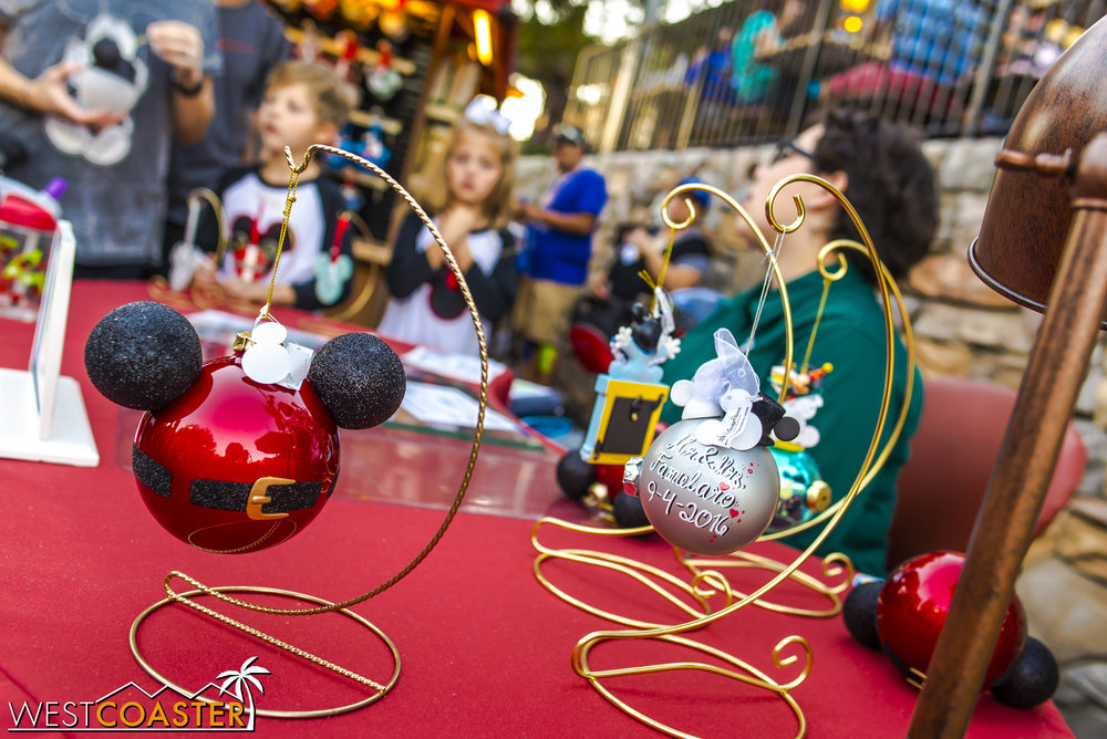 There are also crafts tables for guests to create holiday items.