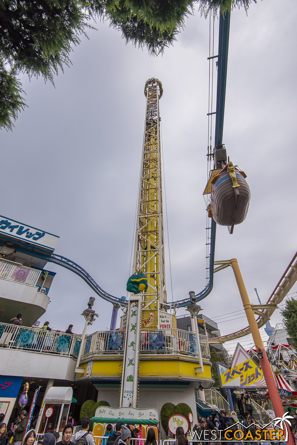 Space Shot towers above everything else in the park.