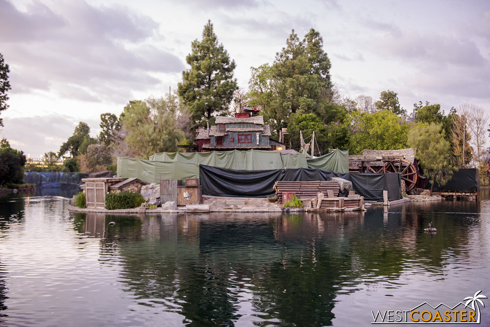 This is likely because work is being done to the stage to provide enhancements for when FANTASMIC! returns this summer.