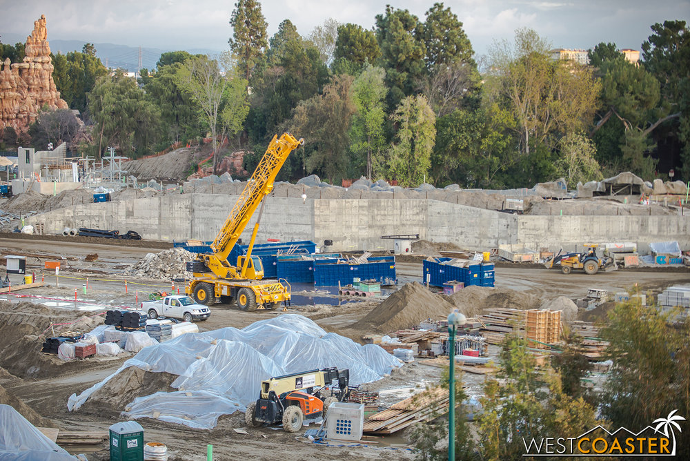 "This is the future home of ""Star Wars"" Land's upcoming premiere E-Ticket attraction that will contain the latest in state of the art technology and combine the best of Disney's and the theme park industry's ride advancements."
