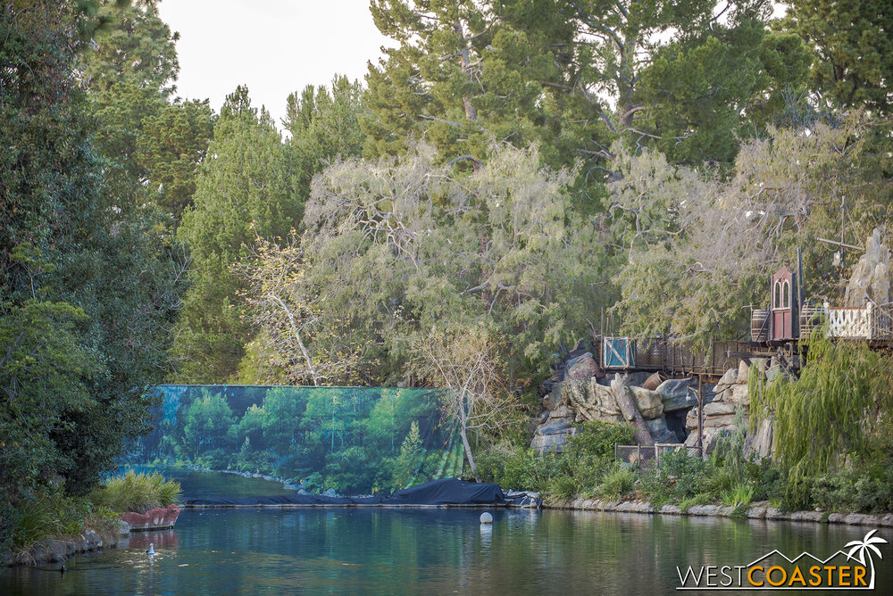 Did you know, and the scientists can verify this, but did you know that 2/3 of the Rivers of America has been taken away thanks to Star Wars Land.  It's true, trust me.  It's absolutely fact.