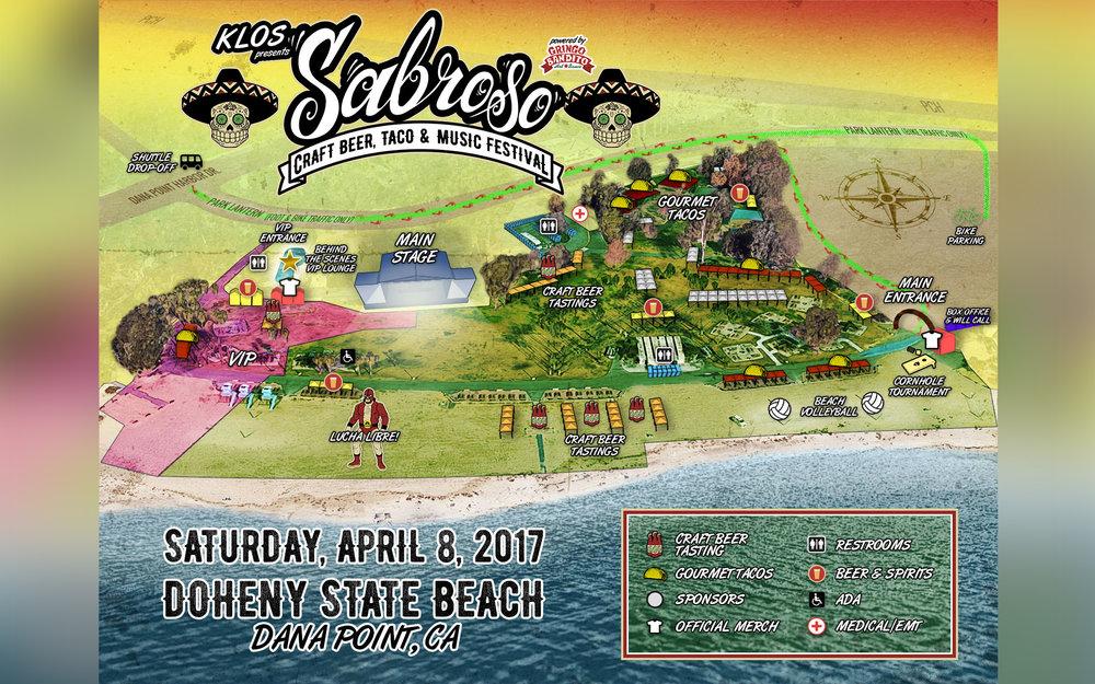 (Event map courtesy of Sabroso Festival.)