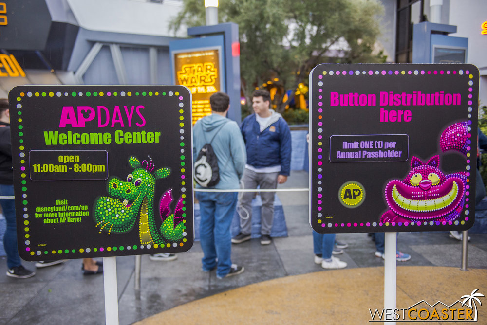 They're also being held at Disneyland Park this year, after being at Disney California Adventure the previous.