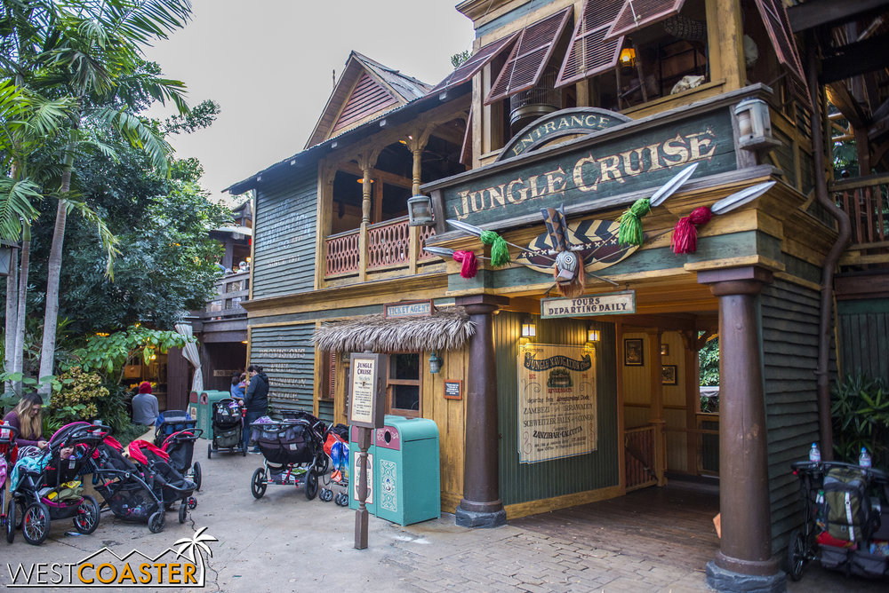 The Jungle Cruise is back open and no longer Christmas-y.