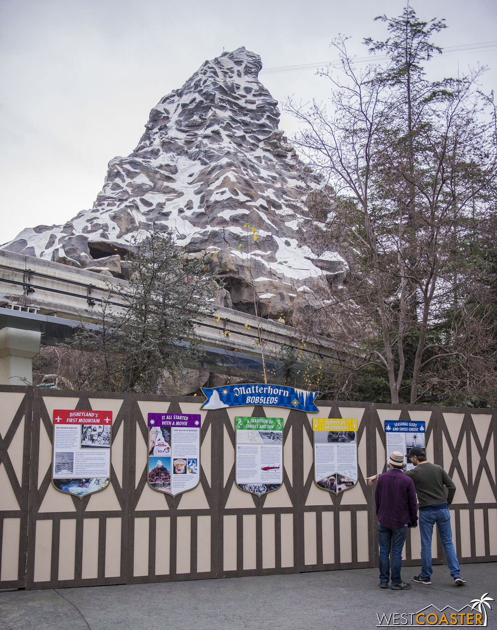 Also closed for a while is the Matterhorn Bobsleds.