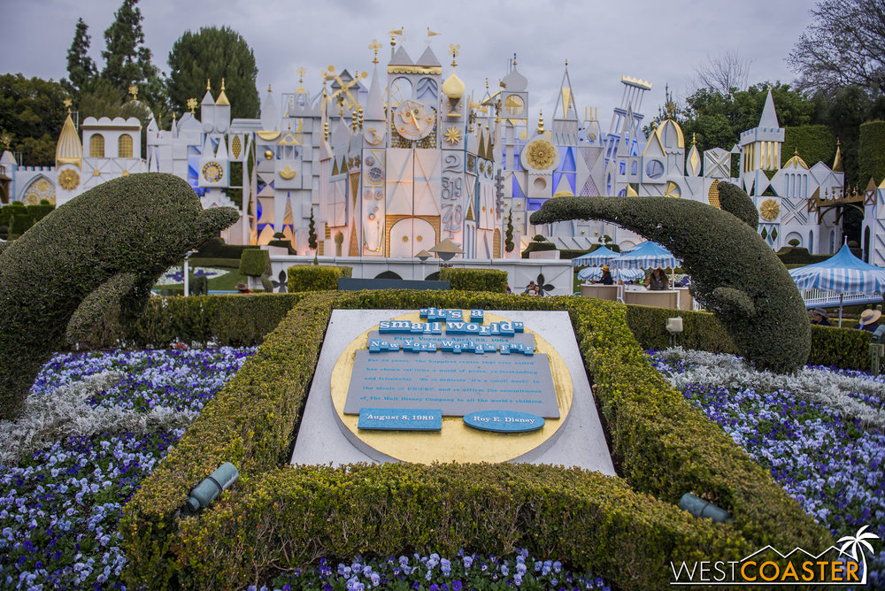 And during the time since the last update, It's a Small World also closed and re-opened back as its regular iteration.
