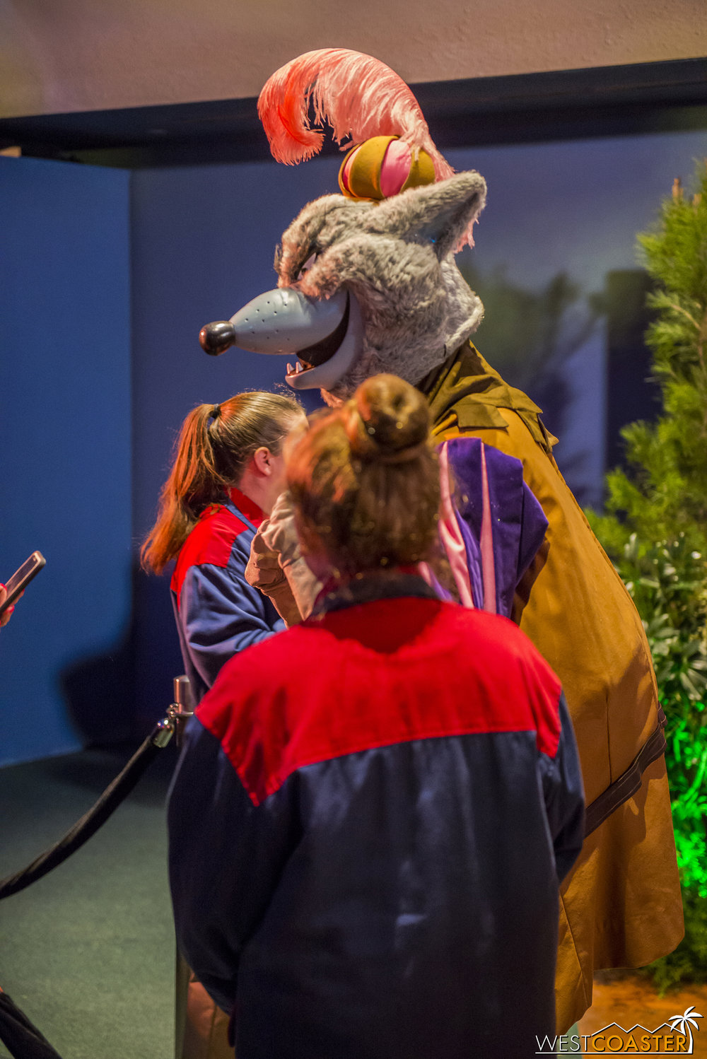 The most popular feature of this Welcome Center appeared to be the meet-and-greet with the Sheriff of Nottingham and Prince John from Disney's  Robin Hood .