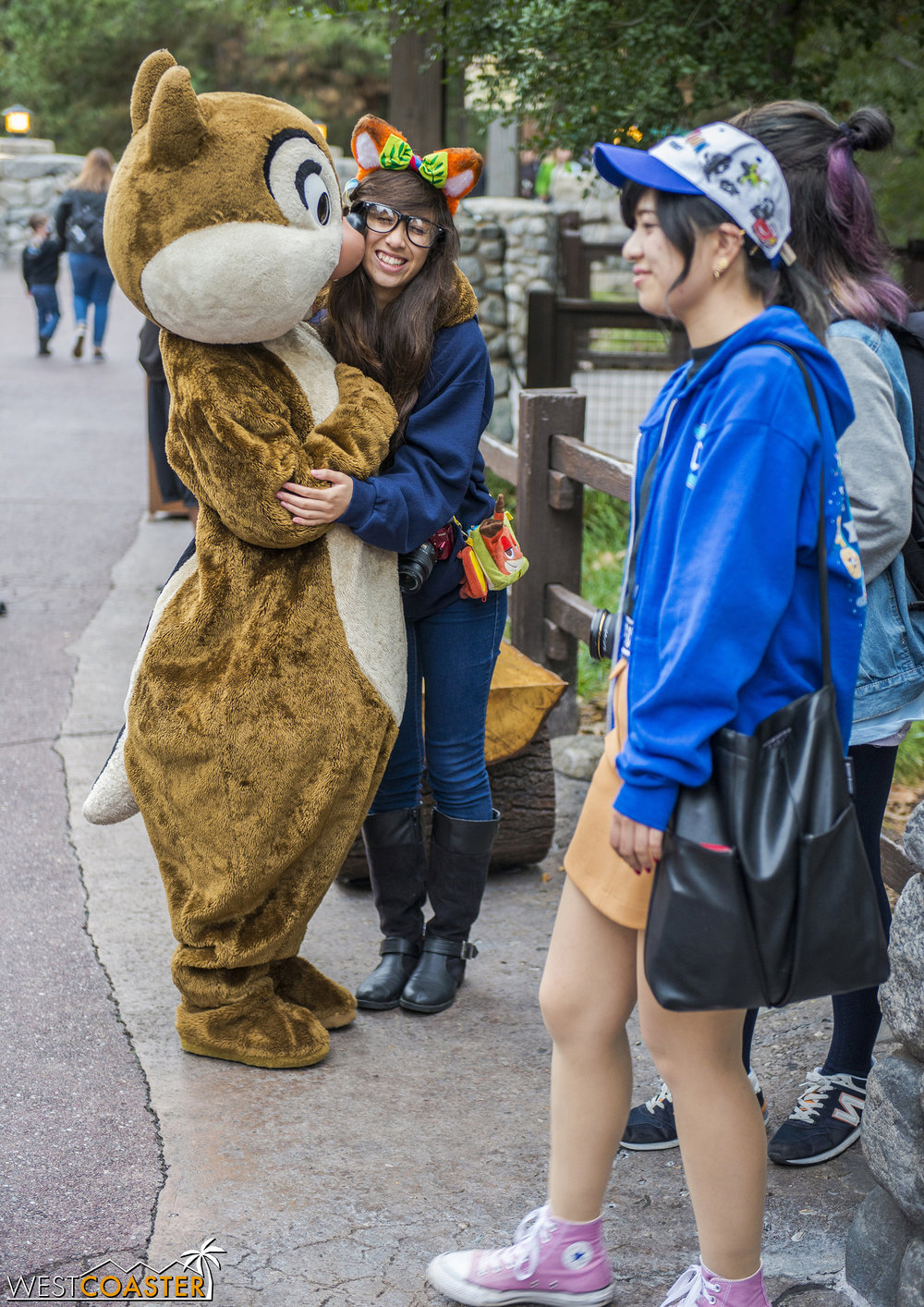 I caught Chip and Dale interacting with guests along Grizzly Peak as I walked through.