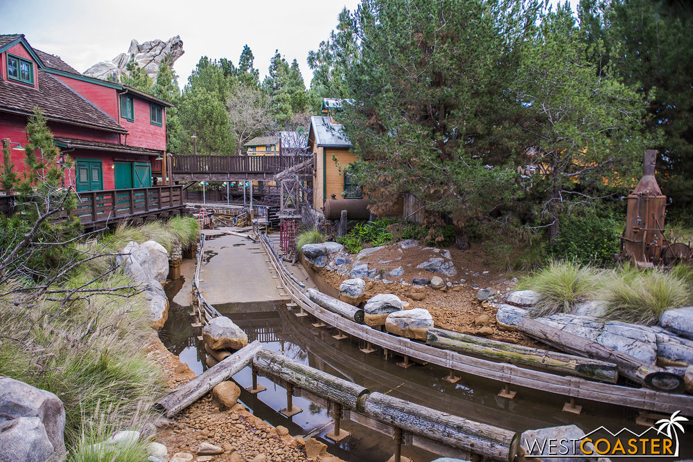 "Grizzly River Run is still closed and dry.  I half expected it to be swollen from Friday's ""Pacific Storm Lucifer"" precipitation."